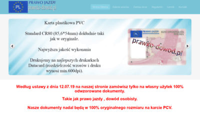 What Prawko-dowod.pl website looked like in 2020 (This year)