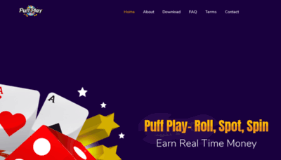 What Puffplay.in website looked like in 2020 (1 year ago)
