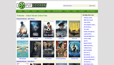 What Putlocker.vc website looked like in 2020 (1 year ago)