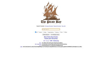 What Piratetoday.xyz website looked like in 2020 (This year)