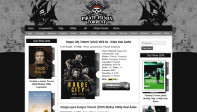What Piratetorrent.org website looked like in 2020 (This year)