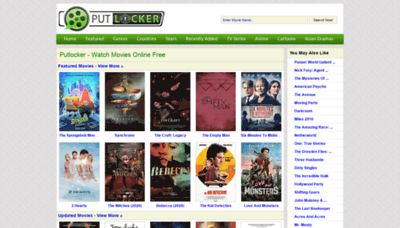 What Putlockers.plus website looked like in 2020 (This year)