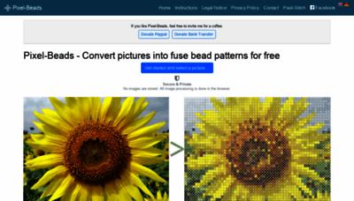 What Pixel-beads.net website looks like in 2021