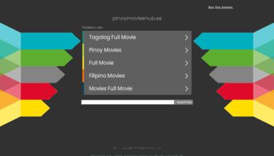 What Pinoymovieshub.se website looks like in 2021