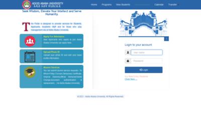 What Portal.aait.edu.et website looks like in 2021
