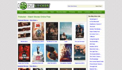 What Putlocker.vc website looks like in 2021