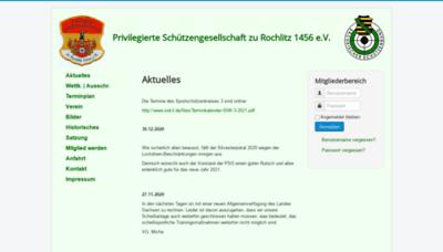What Psg-rochlitz.de website looks like in 2021