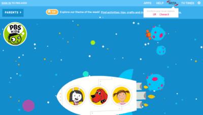 What Pbskids.org website looks like in 2021