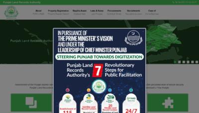 What Punjab-zameen.gov.pk website looks like in 2021