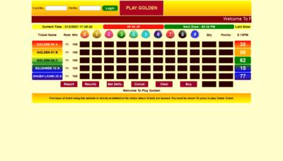What Playgolden.net website looks like in 2021