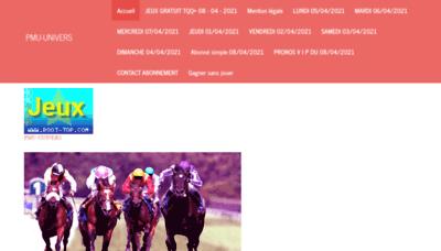 What Pmu-univers.onlc.fr website looks like in 2021