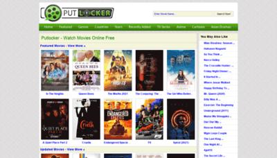 What Putlockers.fm website looks like in 2021