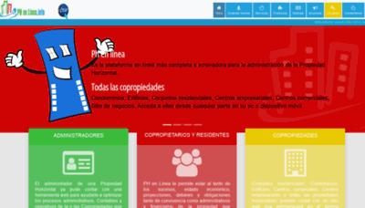 What Phenlinea.info website looks like in 2021