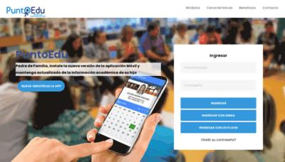 What Puntoedu.co website looks like in 2021