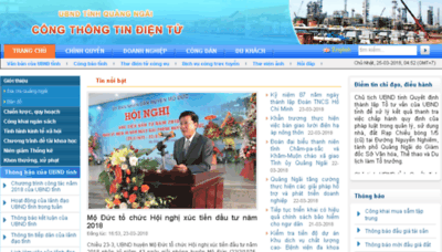 What Quangngai.gov.vn website looked like in 2018 (3 years ago)