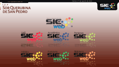 What Querubina.sieweb.com.pe website looked like in 2018 (3 years ago)
