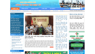 What Quangngai.gov.vn website looked like in 2020 (1 year ago)