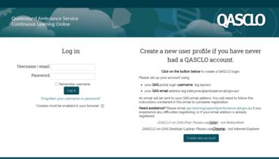 What Qasclo.net website looks like in 2021