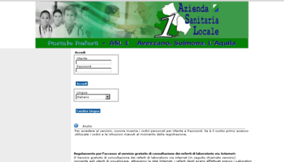 What Refertilab.asl1abruzzo.it website looked like in 2014 (6 years ago)