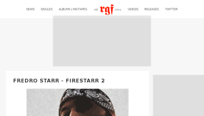 What Rgf.is website looked like in 2018 (3 years ago)