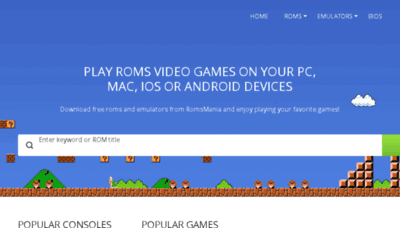 What Romsmania.cc website looked like in 2018 (2 years ago)