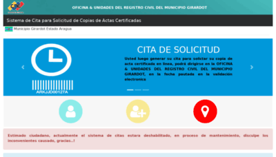 What Registro.orearagua.com.ve website looked like in 2018 (2 years ago)