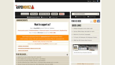 What Rapidmoviez.cr website looked like in 2019 (2 years ago)