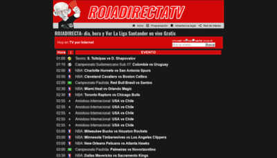 What Rojadirectatv.tv website looked like in 2019 (2 years ago)