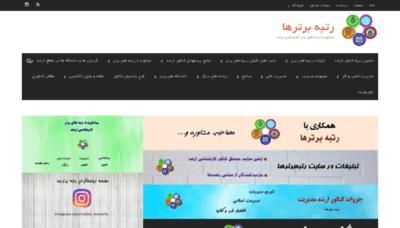 What Rotbeh-bartarha.ir website looked like in 2019 (2 years ago)