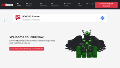 What Rbxnow.gg website looked like in 2019 (2 years ago)
