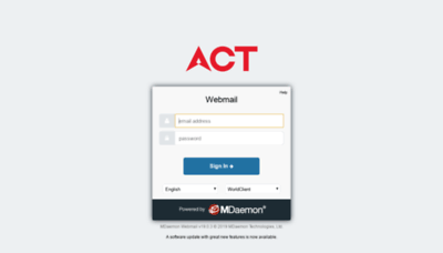 What Roi.actcorp.in website looked like in 2019 (1 year ago)