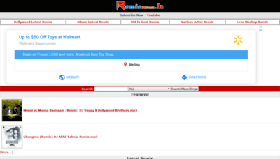 What Remixmaza.in website looked like in 2019 (1 year ago)