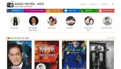 What Radiotruyen.info website looked like in 2020 (1 year ago)