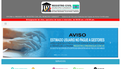 What Registro.orearagua.com.ve website looked like in 2020 (1 year ago)