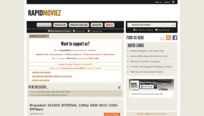What Rapidmoviez.cr website looked like in 2020 (1 year ago)