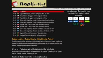 What Rapifutbol.me website looked like in 2020 (1 year ago)