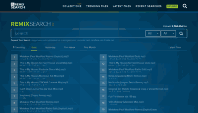 What Remixsear.ch website looked like in 2020 (1 year ago)