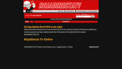 What Rojadirectatv.tv website looked like in 2020 (1 year ago)