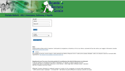What Refertilab.asl1abruzzo.it website looked like in 2020 (This year)