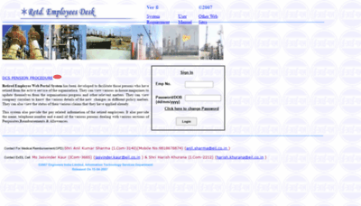 What Retdemp.eil.co.in website looked like in 2020 (This year)