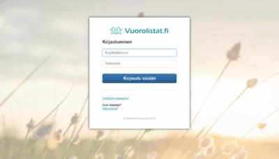 What R-kioski.vuorolistat.fi website looked like in 2020 (This year)