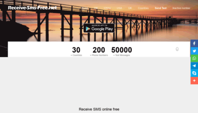 What Receive-sms-free.net website looks like in 2021