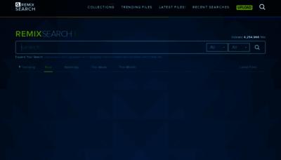 What Remixsear.ch website looks like in 2021