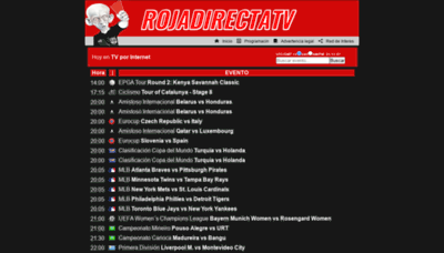 What Rojadirectatv.tv website looks like in 2021