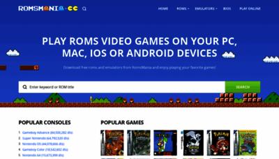 What Romsmania.cc website looks like in 2021