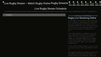 What Rugbystream.me website looks like in 2021
