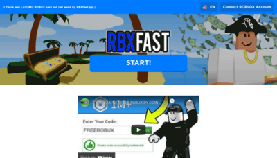 What Rbxnow.gg website looks like in 2021