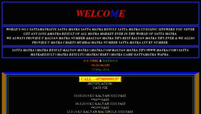 What Sattamatkano1.org website looked like in 2014 (6 years ago)