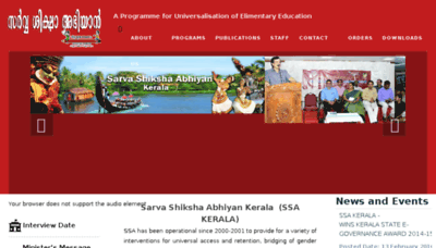 What Ssakerala.in website looked like in 2017 (3 years ago)