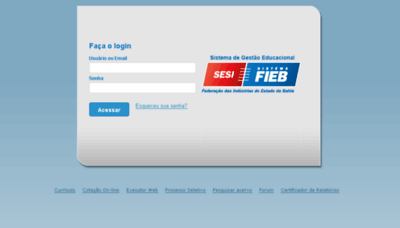 What Sesi-educweb.fieb.org.br website looked like in 2017 (4 years ago)
